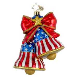 RADKO 1016083 LET FREEDOM RING - PATRIOTIC BELLS ORNAMENT - NEW FOR 2012 (12-8)