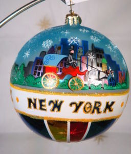 RADKO 3011499 PARK VIEWS - NEW YORK CITY BALL ORNAMENT - RETIRED (ZZ)