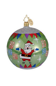 RADKO 1012298 MERRILY MODERN - SANTA BALL ORNAMENT - RETIRED (LL)