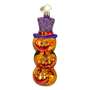 RADKO 1015961 SPOOKY TRIO - HALLOWEEN - STACK OF PUMPKINS ORNAMENT - NEW FOR 2012 (H4)
