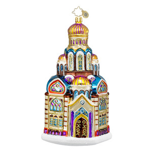 RADKO 1016260 BLESSED BASILICA - GLORIOUS CHURCH ORNAMENT - NEW 2012 (12-13)