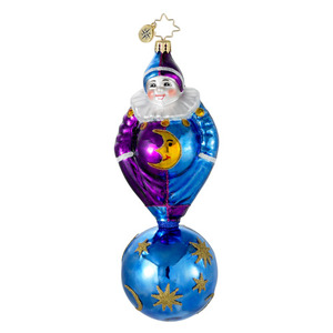 RADKO 1016332 CELESTIAL ELF - CLASSIC ELF ON BALL ORNAMENT - NEW 2012 (12-16)