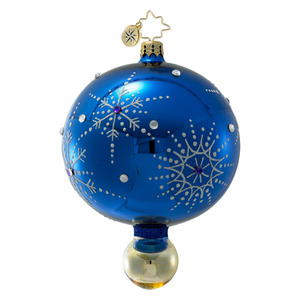 RADKO 1016395 SNOWFLAKE CASCADE - BLUE DROP ORNAMENT - VINTAGE BALL AND DROP COLLECTION - NEW 2012 (12-17)