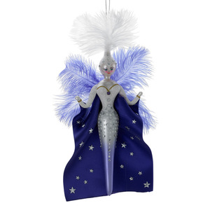 RADKO 1016342 SUGAR PLUM GLAM - FEATHERED LADY WITH CAPE - ITALIAN ORNAMENT - NEW 2012 (12-16)
