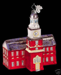 RADKO 1011861 STATELY STEEPLE - COURTHOUSE - RETIRED ORNAMENT (PP)