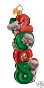RADKO 1014165 SQUEAK FOR '08 - DATED 2008 - RETIRED ORNAMENT (GG2)