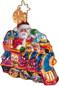 RADKO 1010620 TOYLAND EXPRESS GEM - TRAIN - SANTA - RETIRED ORNAMENT (2)