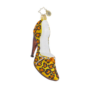RADKO 1016435 SERIOUS HEELS - LEOPARD LADIES HIGH HEELED SHOE ORNAMENT - NEW 2013 (13-3)