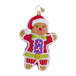 RADKO 1016442 GINGER JACK - BOY GINGERBREAD COOKIE ORNAMENT - NEW 2013 (13-3)