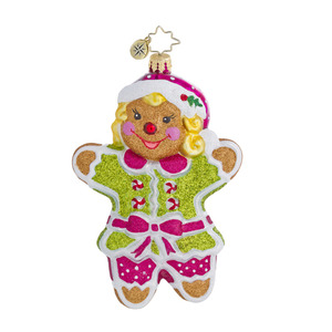 RADKO 1016443 GINGER JILL - GIRL GINGERBREAD COOKIE ORNAMENT - NEW 2013 (13-3)