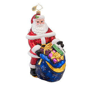 RADKO 1016855 WRAPPED UP, READY TO GO - LIMITED EDITION OF 550 - SANTA WITH BAG OF PRESENTS - NEW 2013 (13-2)
