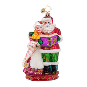 RADKO 1016901 QUITE A TEAM - SANTA & MRS CLAUS - SCENES FROM THE NORTH POLE COLLECTION - NEW 2013 (13-1)