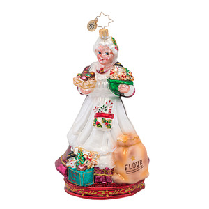 RADKO 1016903 COOKIES TO GO! - MRS CLAUS BAKING COOKIES - SCENES FROM THE NORTH POLE COLLECTION - NEW 2013 (13-1)