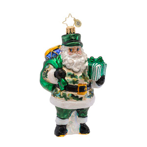 RADKO 1016964 SALUTE THE TROOPS - VETERANS AWARENESS - PATRIOTIC - SOLDIER SANTA ORNAMENT - NEW 2013 (13-1)