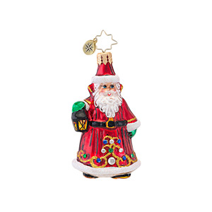 RADKO 1016933 SCARLET ENCHANTMENT GEM - JEWELED SANTA - NEW 2013 (21-1)