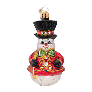 RADKO 1016934 DRESSED TO CHILL GEM - JEWELED SNOWMAN - NEW 2013 (21-1)