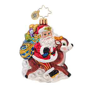 RADKO 1016751 RIDE ALONG REINDEER GEM - SANTA & REINDEER ORNAMENT - NEW 2013 (21)