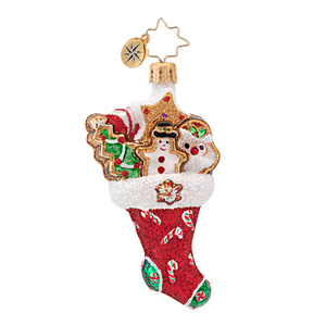 RADKO 1016757 TWICE AS NICE GEM - COOKIE & CANDY STOCKING ORNAMENT - NEW 2013 (21)