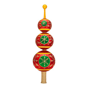 RADKO 1016873 VICTORIA'S BALLROOM FINIAL - JEWELED TRIPLE BALL FINIAL WITH REFLECTORS - TREE TOPPER - NEW 2013 (F4)