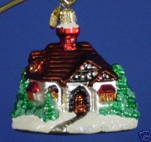 RADKO 01-0516-0 HOMETOWN GEM - HOUSE - RETIRED ORNAMENT (13)
