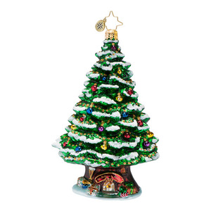 RADKO 1016652 HOME SPRUCE HOME - HOUSE IN TREE TRUNK ORNAMENT - NEW 2013 (13-10)