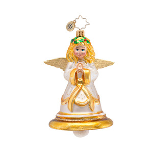 RADKO 1016856 HEAVENLY CHIMES - RELIGIOUS - ANGEL BELL ORNAMENT - NEW 2013 (13-17)