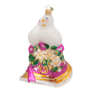 RADKO 1016556 BELLS WILL BE RINGING - WEDDING BELL & DOVES ORNAMENT - NEW 2013 (13-6)