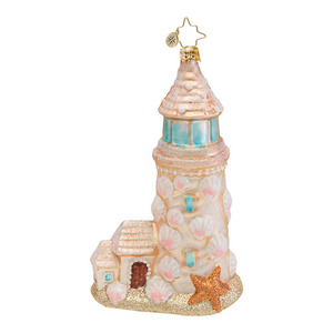 RADKO 1016716 SANDY LOOKOUT - SAND LIGHTHOUSE ORNAMENT - NEW 2013 (13-12)