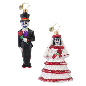 RADKO 1016975 DROP DEAD GORGEOUS - DAY OF THE DEAD GROOM ORNAMENT - NEW 2013 (H4)