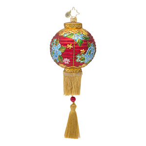RADKO 1016673 FAR EASTERN GLOW - LANTERN WITH TASSEL ORNAMENT - NEW 2013 (13-11)