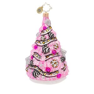 RADKO 1016711 TREETINI - PINK TREE WITH LEOPARD & ZEBRA ORNAMENT - NEW 2013 (13-12)