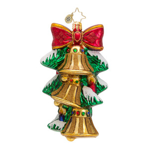 RADKO 1016569 A CHIME IN TIME - 3 BELLS & BOW ORNAMENT - NEW 2013 (13-7)