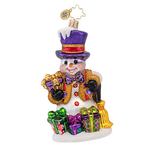 RADKO 1016820 TAKING IT EASY - SNOWMAN WITH PRESENTS ORNAMENT - NEW 2013 (13-15)