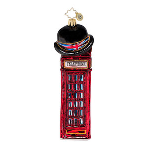 RADKO 1016830 ALLO 'ALLO - ENGLISH PHONE BOOTH ORNAMENT - NEW 2013 (13-16)