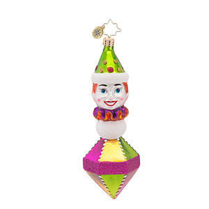 RADKO 1016922 CLOWNING AROUND - CLASSIC RADKO CLOWN ORNAMENT - NEW 2013 (13-18)