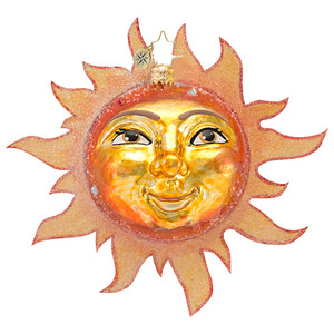 RADKO 1016665 HERE COMES THE SUN - CLASSIC RADKO SUN ORNAMENT - NEW 2013 (13-10)