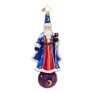 RADKO 1016704 MERRY MERLIN - CLASSIC RADKO SANTA WIZARD ORNAMENT - NEW 2013 (13-12)