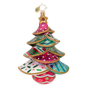 RADKO 1016770 STITCHED UP SPRUCE - QUILTED TREE ORNAMENT - NEW 2013 (13-13)