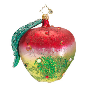 RADKO 1016658 LA POMME - THANKSGIVING - JEWELED APPLE ORNAMENT - NEW 2013 (13-10)