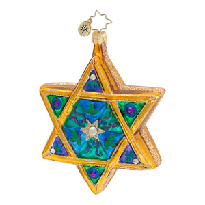 RADKO 1016593 SEAL OF SOLOMON - HANUKKAH - STAR OF DAVID ORNAMENT - NEW 2013 (13-8)