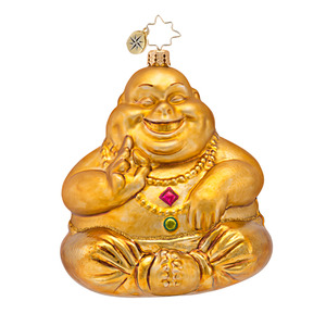 RADKO 1016811 GOLD NIRVANA - BUDDHA ORNAMENT - NEW 2013 (13-15)
