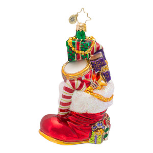 RADKO 1016582 GIFTS TO BOOT - BOOT STOCKING ORNAMENT - NEW 2013 (13-7)
