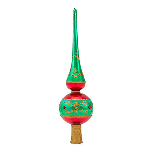 RADKO 1016970 EMERALD TRIM MINI GEM FINIAL - GEM FINIAL - NEW 2013 (21-1)