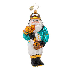 RADKO 1016745 JOLLY JOCKEY - HORSE RACING SANTA WITH TROPHY ORNAMENT - NEW 2013 (13-13)