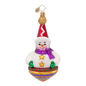 RADKO 1016804 SPINABOUT - SNOWMAN TOP ORNAMENT - NEW 2013 (13-15)
