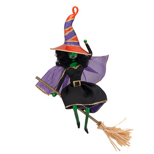 RADKO 1016944 BROOM ZOOM - HALLOWEEN - WITCH - ITALIAN ORNAMENT - NEW 2013 (13-19)