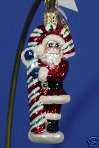 RADKO 01-0557-0 CANDY DANDY GEM - SANTA & CANDY CANE - RETIRED ORNAMENT(13)