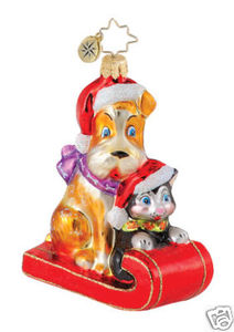 RADKO 1015032 CUDDLE CREW - ANIMAL CHARITY - DOG - CAT - RETIRED ORNAMENT (Q)