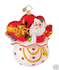 RADKO 1015001 GIFT OF HEART - SANTA - HEART DISEASE CHARITY - RETIRED ORNAMENT (Q)