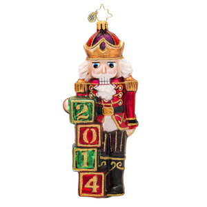 RADKO 1017503 GUARD THE DATE - DATED 2014 - NUTCRACKER ORNAMENT - NEW 2014 (14-2)